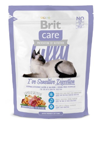 Сухой корм Brit Care Cat Lilly I have Sensitive Digestion, 0,4 кг Brit